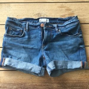 NEW Ann Taylor LOFT Rolled Cuff Denim Shorts